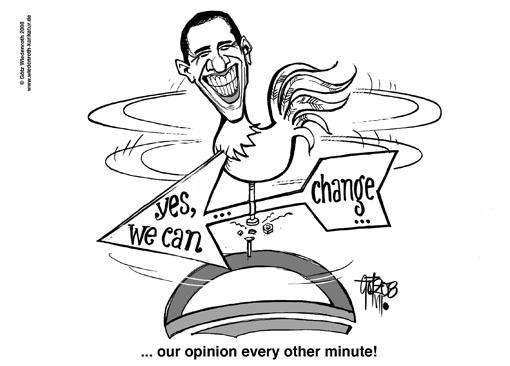 cartoon obama election 2008