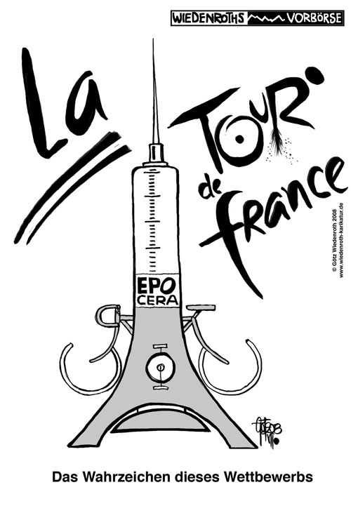 Tour de France, Radsport, Doping, Betrug, EPO, CERA, Eiffelturm, Le Tour de France, La tour de France