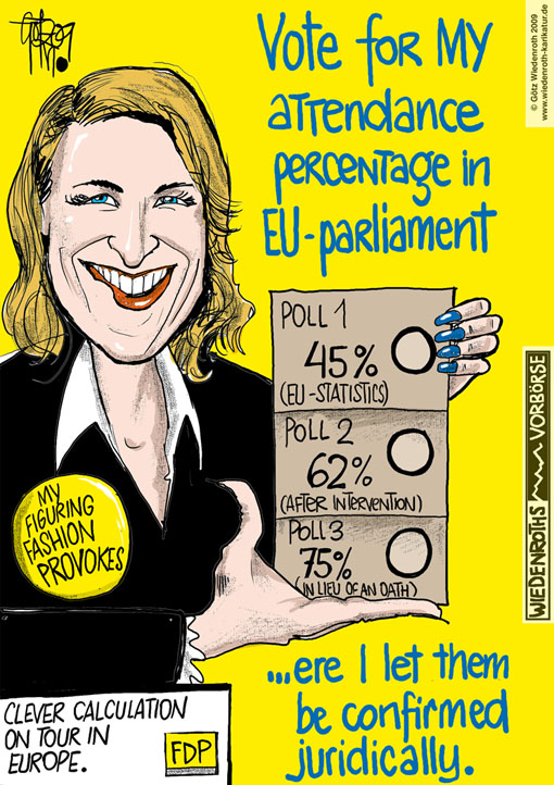 EU parliament, Europe, elections, member of parliament, Silvana Koch-Mehrin, calculation, attendance percentage, poll, lawsuit, Pressekammer, Landgericht Hamburg, court, Andreas Buske, judge, opacity, statistics