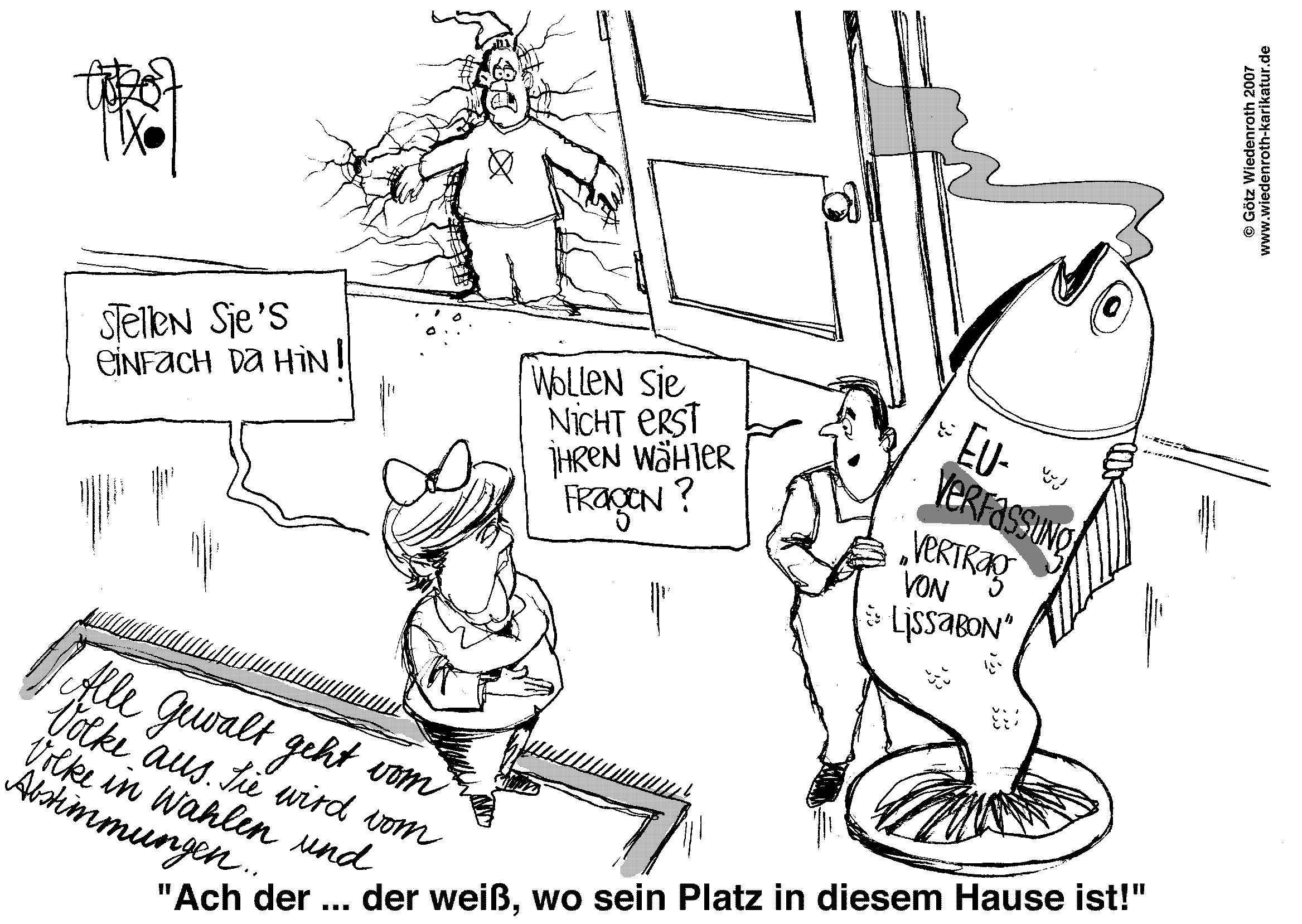 Götz Wiedenroth Tägliche Politik Karikatur