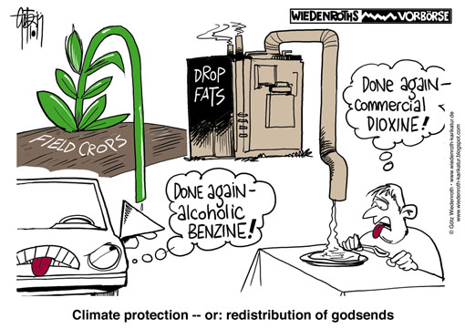 Scandal, Dioxine, waste, incineration, E 10, eggs, contamination, food, fat, animal, livestock, fatstock, cattle, climate, protection, co2, carbon, reduction, fuel, Wiedenroth, Karikatur, cartoon