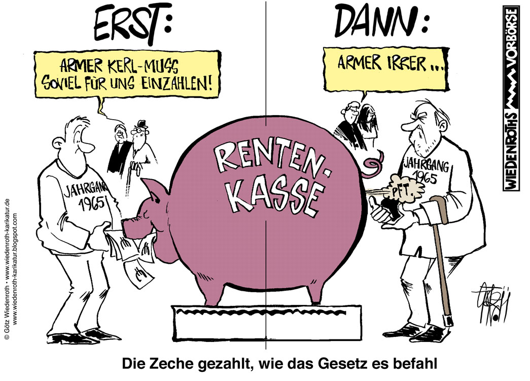 Rente Karikatur