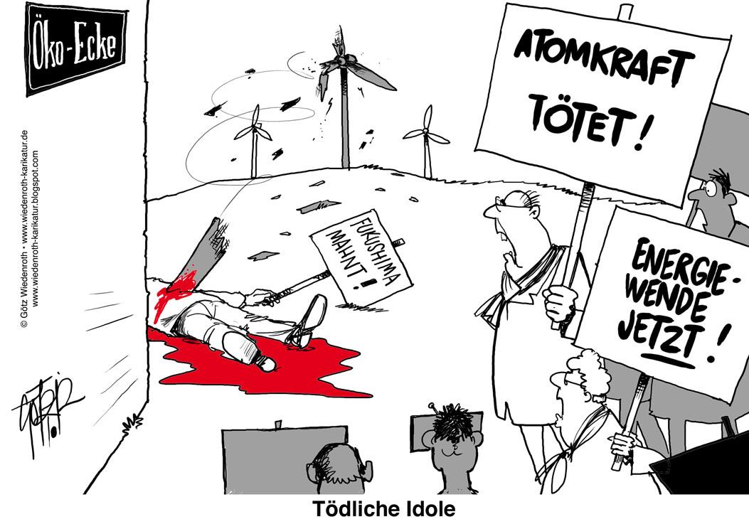 Propaganda atomkraft fukushima wiedenroth karikatur cartoon