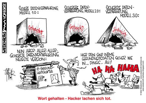 Speicherung identifikation foto wiedenroth karikatur cartoon