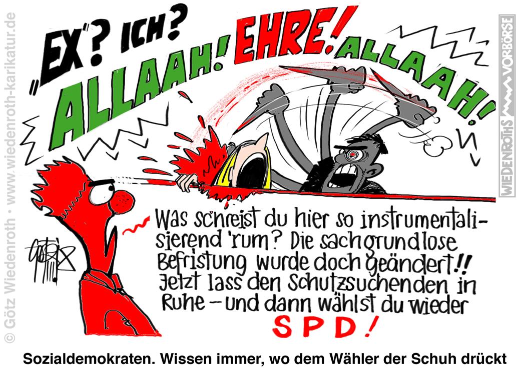 Bildergebnis für messer-mord karikatur
