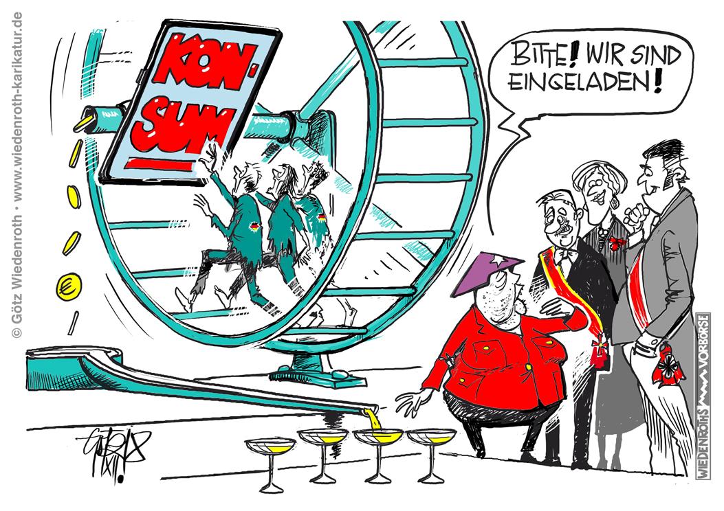 Karikatur Konsum