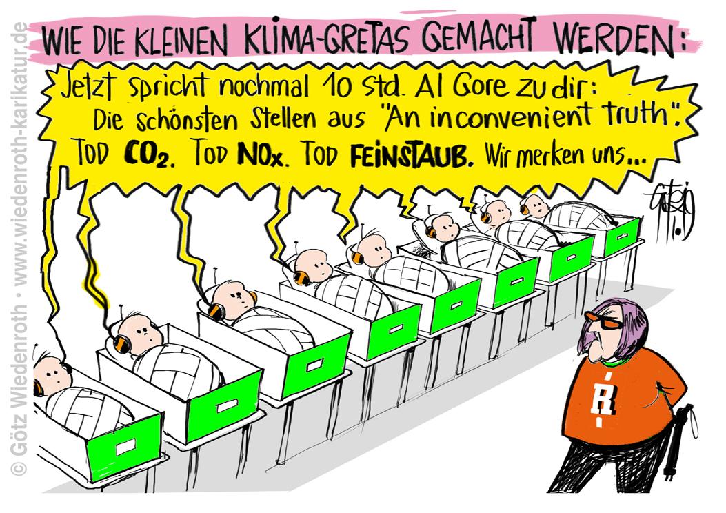 Karikatur Cartoon Satire Politik Wirtschaft Zeichnung Illustration