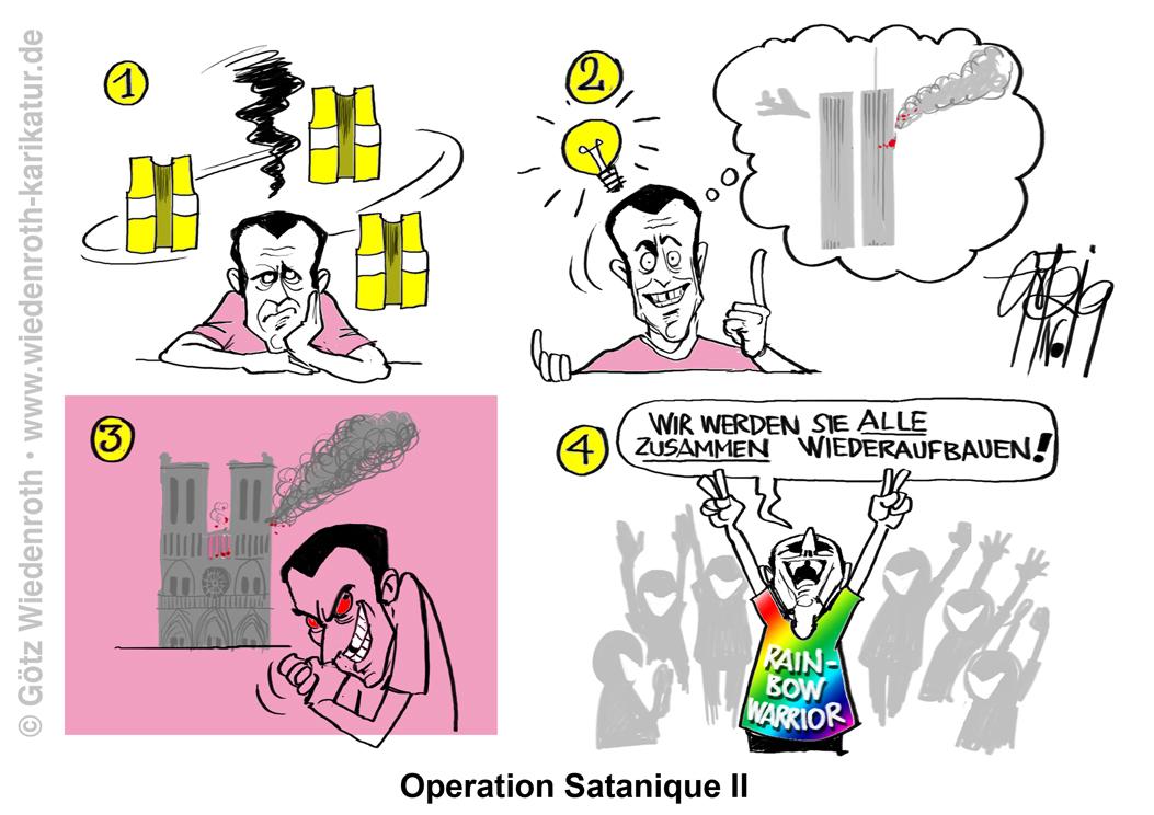 """Notre-Dame eine """"PROFI-BRANDSTIFTUNG""""?"""